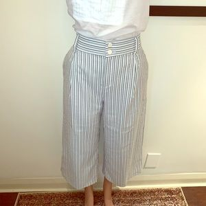 ZARA| stripped seersucker pants| L